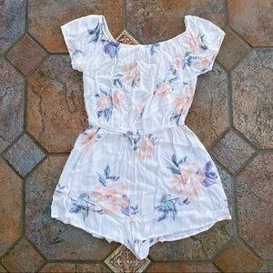 Kendall & Kylie White Floral Print Summer Romper